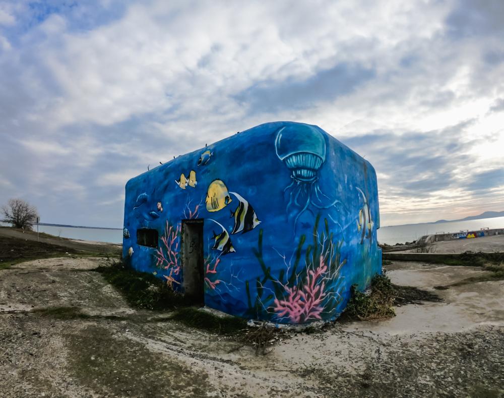 Бункер с морска тематика