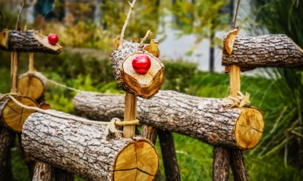 Christmas decoration in Nessebar from natural materials