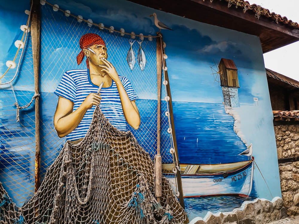 Illustration at Old Kavak Restaurant in Nessebar