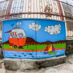 Charmingly painted street in Burgas