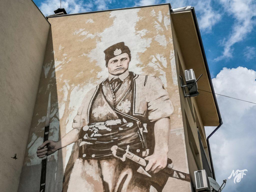 Mural of Vasil Levski in Karlovo