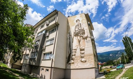 Mural of Vasil Levski in Sopot