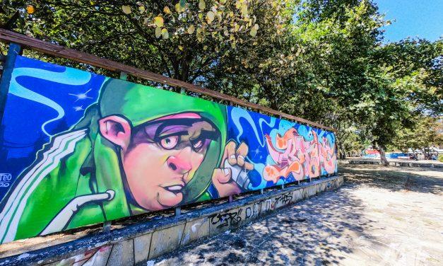 Back to the basics – графити стената в Бургас