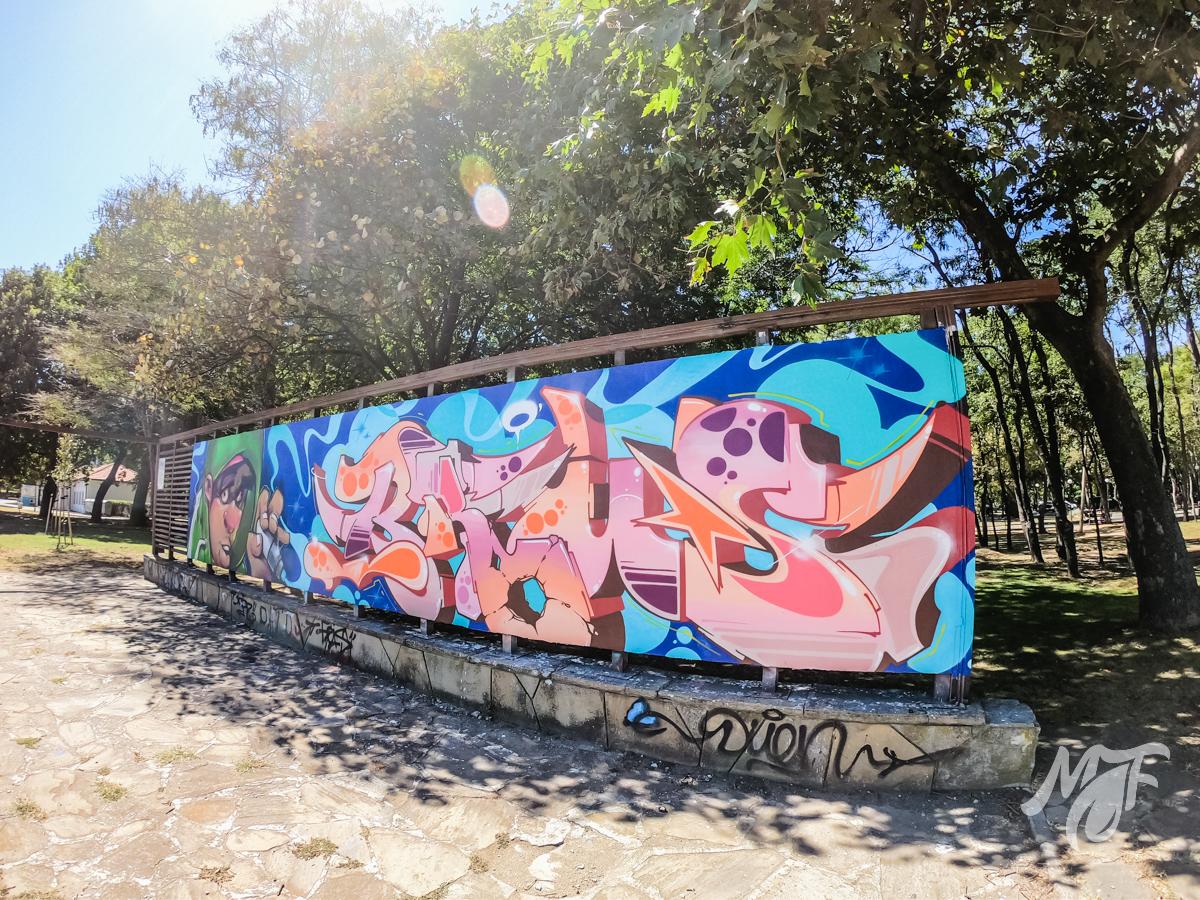 графити стената в Бургас