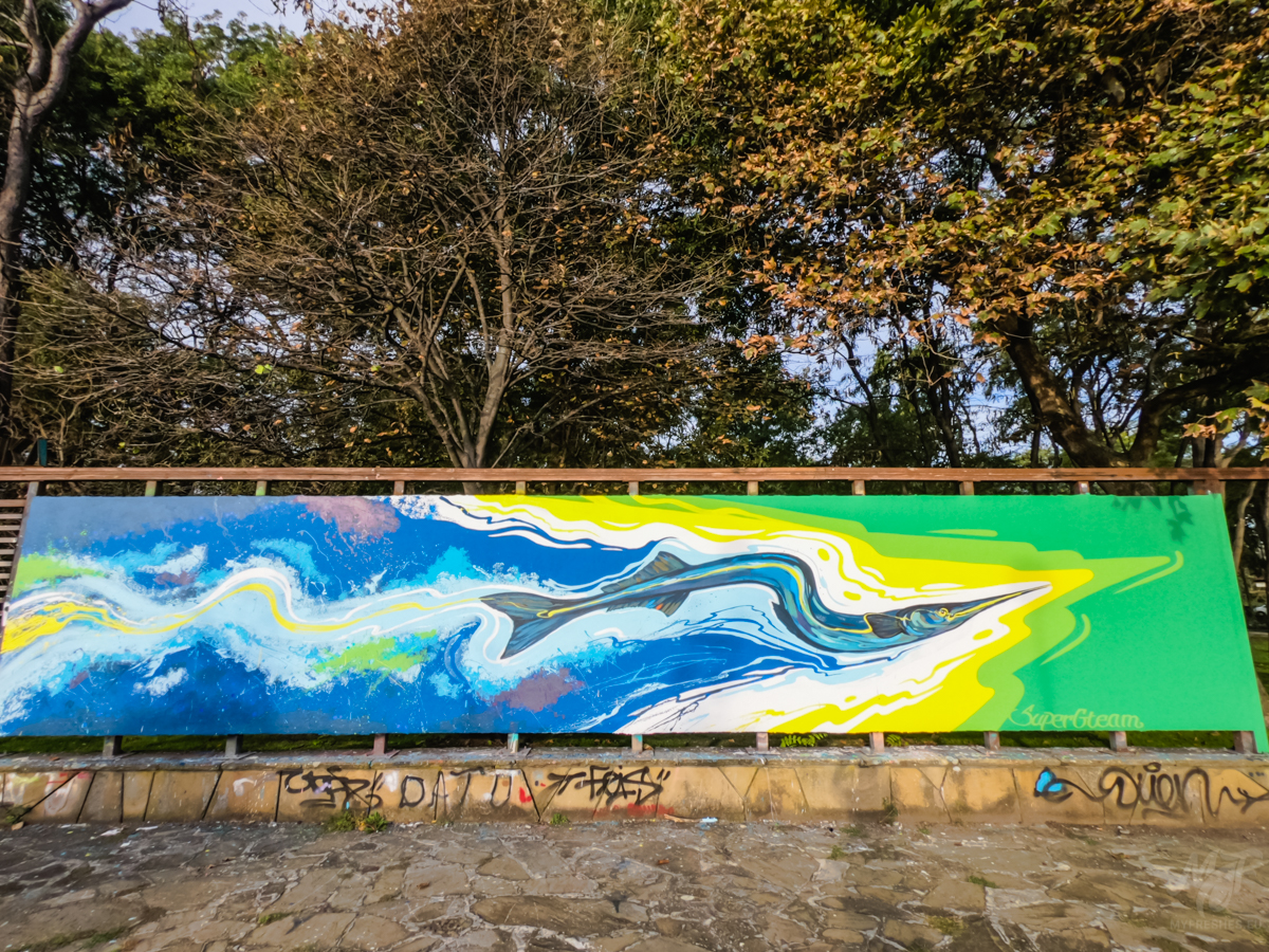 Movement - Graffiti wall in Burgas