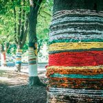 """Art installation """"Embraced Nature"""" in Burgas"""